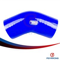 Wholesale PQY STORE BLUE quot mm Degree Elbow Silicone Hose Pipe Turbo Intake PQY SH4530