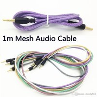 audio speaker mesh - Rubber Tube Audio AUX Cable mm Fishing Net Mesh Jack Auxiliary Stereo Male To Male Braided m ft Cord for Iphone Mini Speaker MP3