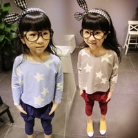 baby chothes - Retail Brand Cotton Girls T shirts For Baby Girl autumn long Sleeve Childrens stars Kids Chothes Blouse T shirts roupas