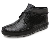 Wholesale 2015 New Arrival Men Shoes Genuine Leahter Cowskin High Quality Flats Boots Autumn Winter Mens Casual Shoes Size Retail BC48