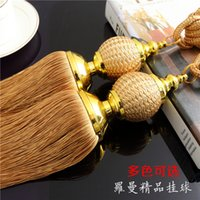 bandaged ear - The latest low hanging ball curtain tassel hanging ear bandage imitation hand woven rayon tie ball decoration of choice recommen