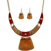 aqua gemstones - 2015 new fashion women Geometry enamel gemstone necklace
