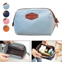 beauty frames - Nylon PU Multi use Cosmetic Makeup Travel Case Organizer Bag solid color Frame Beauty Pouch make up cases