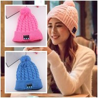 beret boy - Wireless Bluetooth V3 Smart Woolen Knit Beanie Winter Sport Hat Headphone Headset Hands free Music Magic Cap Mp3 Speaker Mic Hot