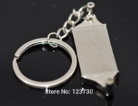Leather auto radiator parts - Creative radiator keychain Intercooler Auto Parts Accessories Key Chain Ring Key Fob Keyring Key Chains