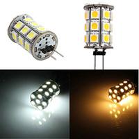 Nouveau chaud G4 pur / Blanc 27 5050 SMD conduit mini-voiture de LED lampe de lecture Ampoule Spotlight Lumière DC12V