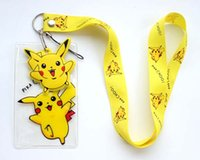 Wholesale HOT CARTOON MOVIE Pikachu Lanyard Neck Strap ID Card Badge Mobile P Holder