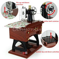 best toy cosmetics - Best Promotion New Vintage Mini Sewing Machine Style Mechanical Music Box Gift Birthday gift Sartorius Model Musical Toy order lt no track