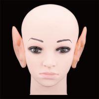 alien costume accessories - Hot Sale Elf Fairy Alien Cosplay Larp Halloween Costume Ear Tips Accessories