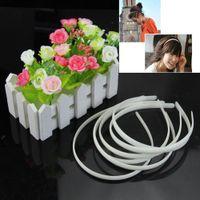 Wholesale pc White Fashion Plain Lady Plastic Hair Band Headband No Teeth Hair DIY Tool order lt no track