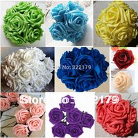 foam flowers - 100 Artificial Flowers Rose cm Foam Flowers For Bridal Bouquets Wedding Decor Foam Flowers