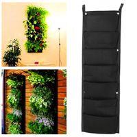Wholesale New Modern Design x cm Pocket Hanging Fence Garden Vertical Flower Vege Herbs Wall Planter order lt no track