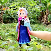 disney plush - 2015 Newst Disney Frozen Doll Elsa Anna princess stuffed Soft plush Hot Moive Toys For Gifts