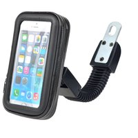 Wholesale Motorcycle Mirror Bolt Holder for inch Phone ABS Touch Screen Case Zipper Case Car Mount with Weatherproof Seal S023