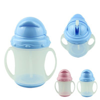 Wholesale Essential SkyBlue Ourdoor Travel Safety ml new baby drinkware water bottle training bottle Soft Straw Kit Child A5