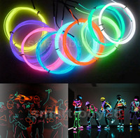 Wholesale 3M Flexible Neon Light Glow EL Wire Rope Tube Flexible Neon Light Colors Car Dance Party Costume Controller Christmas Holiday Light