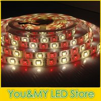 Wholesale RGBW RGBWW SMD LED Strip Light Waterproof DC V M leds m warm white RGB