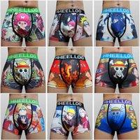 anime mens underwear - 1pc High Quality Japanese Anime One Piece Naruto Sexy Mens Micro Fiber Cotton underwear cuecas Boxers Fashion Men s shorts Boxer FG1511