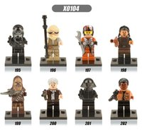 Wholesale 480pcs Star Wars Kylo Ren Han Solo Rey Finn Bricks gift The Force Awakens action figures Building Blocks toys x0104