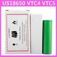 Cheap US18650 VTC5 2600mAh VTC4 2100mAh 3.7V Li-ion battery clone for E cigarette Manhattan King Nemesis Stingray Mechanical mods 0204105-2