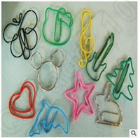 Wholesale Green Christmas tree cute series cartoon silicone paperclip Bookmark Creative Paper Clips Colorful Bookmarks KKA22