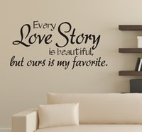 beautiful love mirrors - Every love story is beautiful but ours is my favourite wall stickers home decor diy vinyl Wall Stickers home decoration
