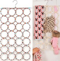 Metal belt ring hanger - 2015 Hot hole steel Ring Scarf Shawl scarf rack Belt Tie Hangers socks hanger Holder Hook Hanger Clothes Organizer