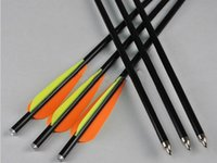 Wholesale pieces fiberglass crossbow bolts arrow quot w nock fixed point shooting archery bow outdoor