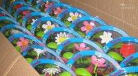 Flor oscilación solar fresco España-Dancing magic Flower Cool Car decoración Solar Powered Flip Flap swing Flores de la planta muñeca muñeca coche