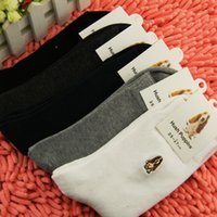 Wholesale High Quality Men Embroidered Cotton Short socks For Men Free Size Suitable For Size US6 to US10