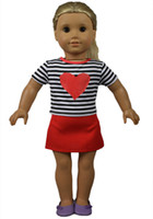 Wholesale 2015 New Coming Inch American Girl Doll Clothes Cute American Girl Clothes and Accessories Good Quality