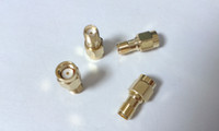 Wholesale 50 Gold plated SMA female jack to RP SMA male jack center RF coaxial adapter