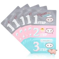 Wholesale Factory price Pig Nose Mask Blackhead killer Nose Mask steps Kits Deep Cleanser Korean Cosmetics Face Nose Treatment Mask