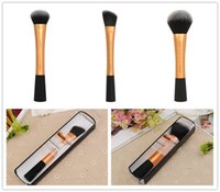 beauty expert - RT Techniques Powder Foundation Expert Face Brush High Quality Gold Base Flawless Definition Beauty makeup brushes Blender DHL Free