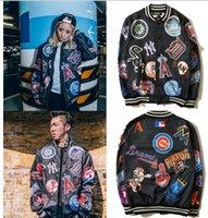 clothing new york - Fall Hip Hop HBA Clothes Men s casual Baseball New York Sport College Hoodies Sweatshirts Jackets Letterman harajuku Outerwear coats