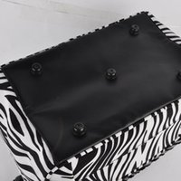 barber strap - PC Professional Practical Barber Hair Tools Hairdressing Salon Zebra Portable Tool Case Bag With Strap