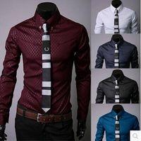 Wholesale 2016 hot shirt for man Fashion Men Luxury Casual Stylish Slim Fit Long Sleeve Casual Dress Shirt man dress shirt