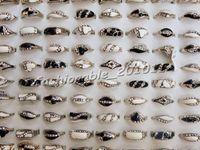 Wholesale Ladies CZ Rings Jewelry Fashion Dazzling Wedding Ring Rhinestone Silver Plated Black white Rings