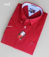 army dress code - HOT men Short Sleeve Shirt Mens Cotton business casual shirt large code