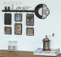Wholesale LOFT American country style industry Iron crafts retro frames photo wall frame combination wall