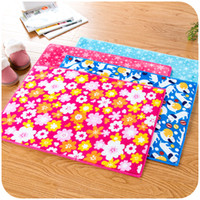Wholesale Color Flower Plush Bedroom Mat Anti slip Absorbent Kichen Room Floor Rug Shower Carpet Home Decoration SK761