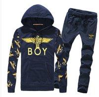 Wholesale New Spring Autumn Hot Mens Tracksuit Set New Fashion Hood Casual Slim Sports Men s Suit Lovers Sets S XXL