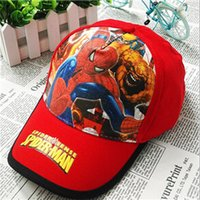 Wholesale Fashion Children Cartoon Spiderman Baseball Caps Snapback Adjustable Embroidery Hat boy Party outings gift