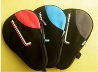 Aluminum tennis bags - New Black Nylon Waterproof Table Tennis Racket Bag Ping Pong Paddle Case with Ball Pouch Sport dandys