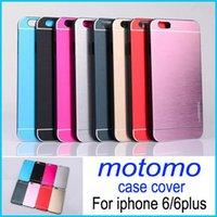 aluminium mobile - 4 inch Luxury Brushed Aluminium Motomo Metal PC Case Cover For iPhone plus MOTOMO Slim Brushed Metal Back Shell Mobile Phone Cover