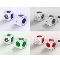 side socket - Universal Power Cube USB Socket Module Square Cube Mold Side Outlet Socket Scalable Superimposed Smart Socket Allocacoc Office Artifact