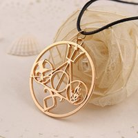 american jackson - hot Movie jewel logo Mix Pendant Necklace Hunger Games Harry Potter Percy Jackson city of bones rope chain Pendants Necklace Alloy Jewelry