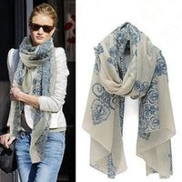Wholesale fashion Totem female Korean version of the new chiffon and cotton scarf shawl clothing leopard