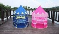Cheap Children Beach Tent, Baby Toy Play Game House, Kids Princess Prince Castle Indoor Outdoor Toys Tents Gifts For Kids DHL Free