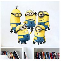 Wholesale New Design Despicable Me Minion Movie Decal Removable Wall Sticker Home Decor Art Kids Nursery Loving Gift B0623